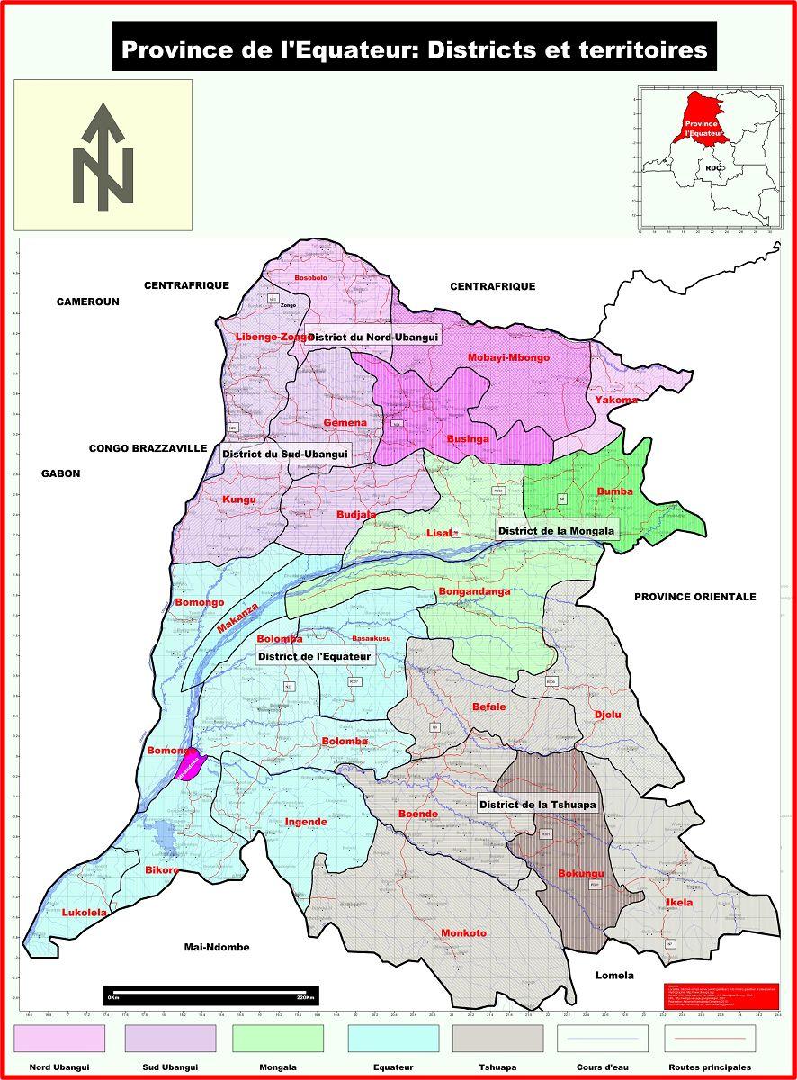 Equateur Carte Provinces